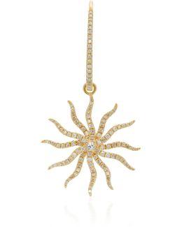 Maxi Bo Chams 18k Gold, Diamond And Sapphire Earring