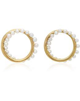 Cameleon 18k Gold Pearl Earrings