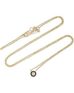 Single Stone Enamel Necklace