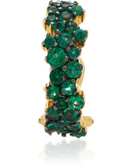 Mirian Single Emerald Ear Cuff