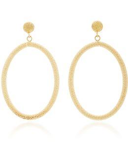 Large Oval Florentine Earrings