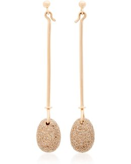 Rose Gold Vivianna Dew Drop Earrings With Diamond Pave