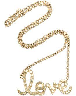 Xl Nugget Love Script Necklace