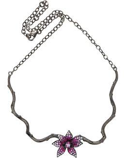 Pink Sapphire Flower Choker