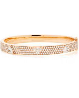 Pave Oval Bracelet With 3 Trillion Diamonds