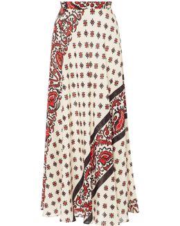 Bandana Print Silk Skirt