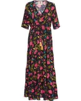 Kalila V-neck Midi Dress