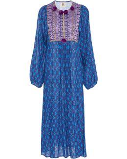 Lucie Pom Pom Midi Dress