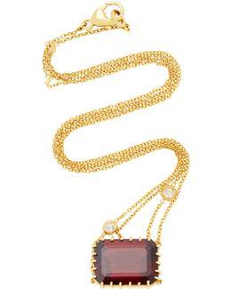 Antique Garnet And Diamond Necklace