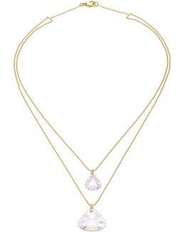 Antique Triangle Kunzite Necklace