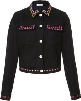 Grommet Denim Jacket