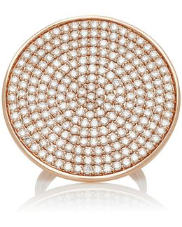 Large Pave Disc Ring