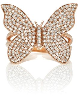 Large Pave Butterfly Ring