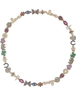 15 Year Multicolor Anniversary Necklace