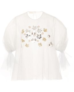 Embroidered Silver Blouse
