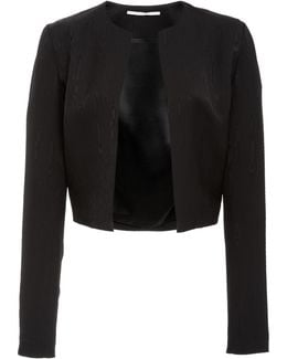Cropped Fluid Moire Jacket