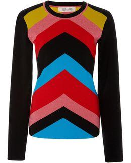 Crewneck Rainbow Sweater