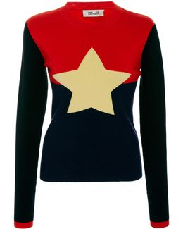 Star Colorblock Sweater