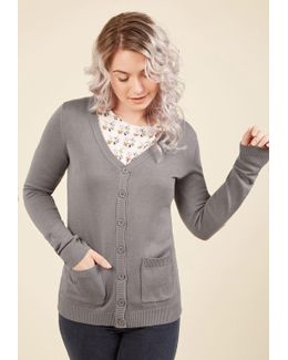 Have A Good Knit Cardigan In Grey