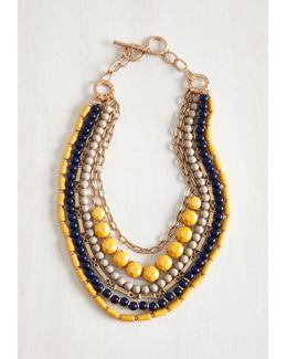 Yes You Glam Necklace In Mustard