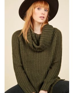 Homecoming 'round The Mountain Sweater In Moss