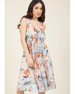 New York City Twirl Floral Dress In Sky