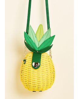 Pineapple Straw Cross-body Bag