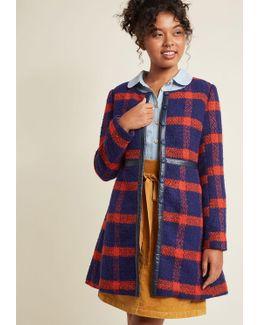 Retro Tailored A-line Coat