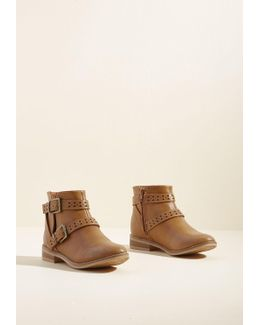 Spirited Style Cutout Bootie In Caramel