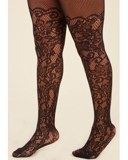 Intricately Exquisite Tights - Extended Size