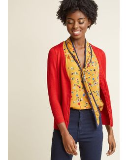 Charter School Cardigan In Red