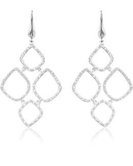 Riva Diamond Cluster Drop Earrings