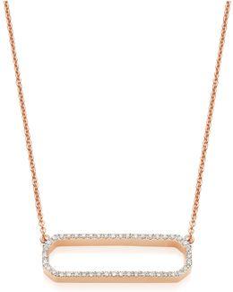 Naida Rectangle Open Necklace