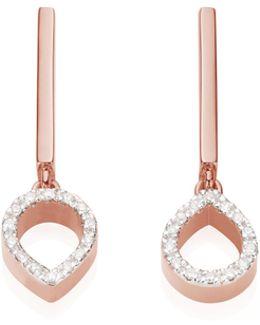 Naida Mini Lotus Open Drop Earrings
