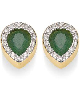 Naida Lotus Stud Earrings