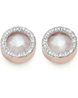 Naida Circle Stud Earrings