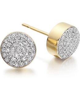 Ava Button Stud Earrings