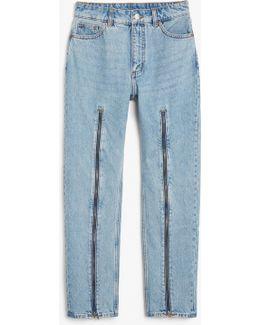 Moluna Zip Jeans
