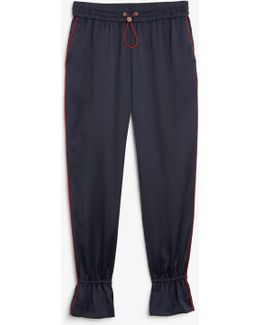 Sporty Ruffled Trousers