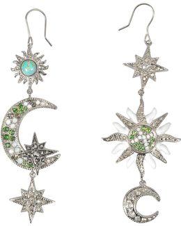 Sun & Moon Asymmetrical Earrings