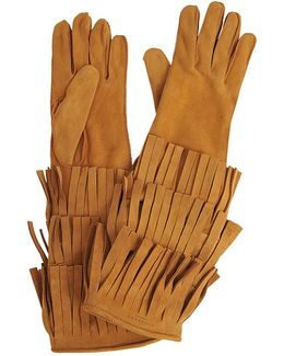 Long Maureen Gloves With Fringes