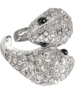 Iconic Snake Crystals Ring