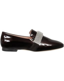 Crystal Band Patent Loafer