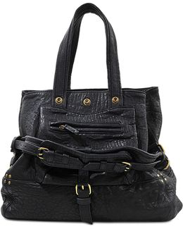 Billy M Bubbled Lambskin Bag