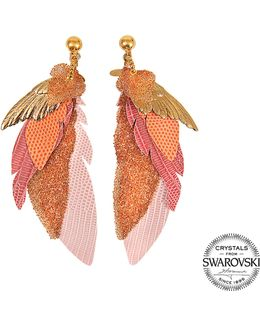 Exclusive L'iroquoise Earrings With Swarovski Crystals