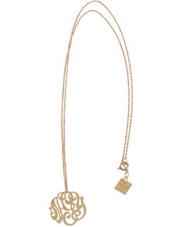 Baby Monogramme Gold Necklace