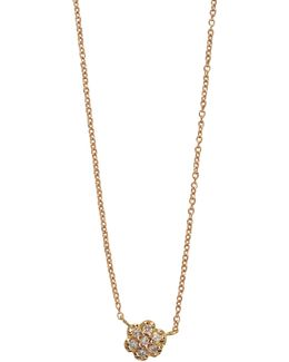 Lotus Mini Diamond Gold And Diamond Neckalce