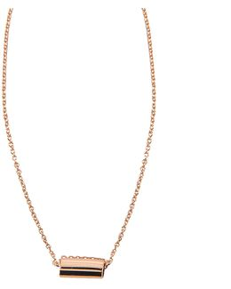Mini Straw On Chain Necklace