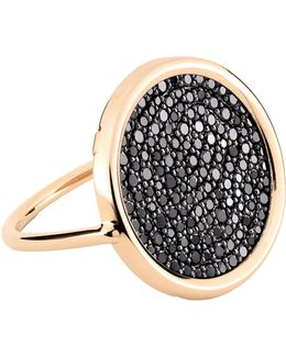 Large Black Diamond Disc Ring