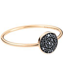 Mini Black Diamond Ever Disc Ring